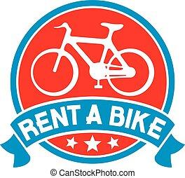 vélo, loyer, étiquette