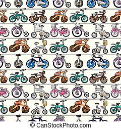 vélo, modèle, seamless