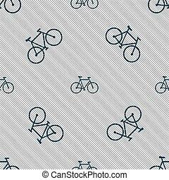 vélo, modèle, signe., seamless, vecteur, géométrique, texture., icône