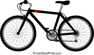 vélo, noir
