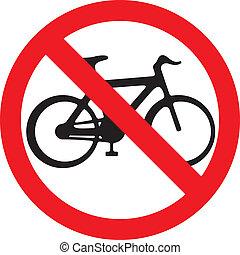 vélo, non, symbol), (no, signe, vélos