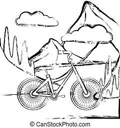 vélo, paysage