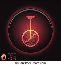 vélo, retro, icône