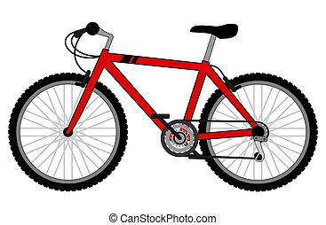 vélo, rouges