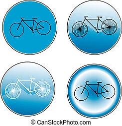 vélo, -, signe, sentier, variantes, route