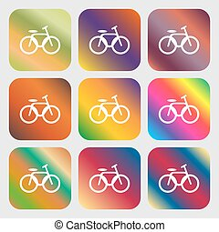 vélo, signe, vélo, icône