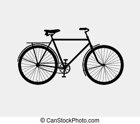 vélo, silhouette, classique