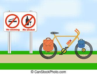 vélo, sport., tourisme, road.