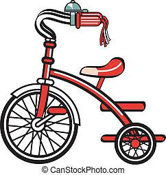 vélo, vélo, trike, clipart, tricycle