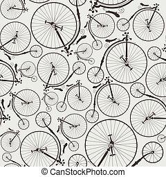 vélo, vendange, seamless