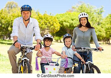 vélos, leur, famille