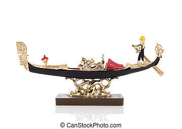 vénitien, bateau, souvenir