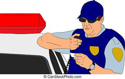 vérification, identification, policier