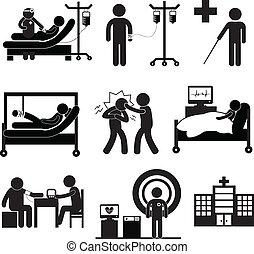 vérification, monde médical, hôpital