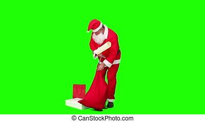 vérification, sien, liste, claus, dons, santa