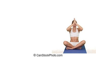 vêtements de sport, yoga, femme