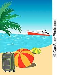 vacances été, fond