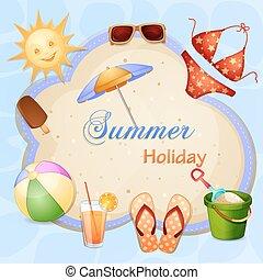vacances été, illustration
