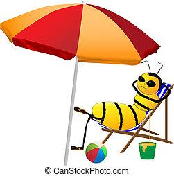 vacances, abeille