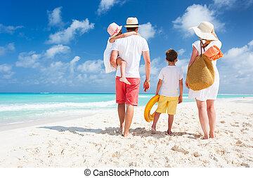 vacances plage, famille