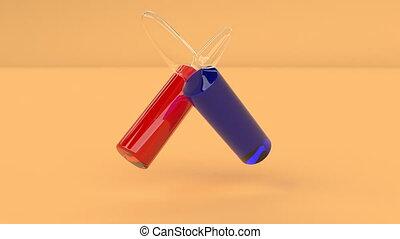 vaccins, capable, air, boucle, seamless, bleu, rouges, ampoules, flotteur