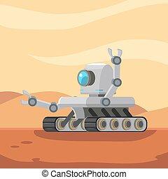vagabond, robot, mars