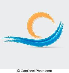 vague bleue, signe