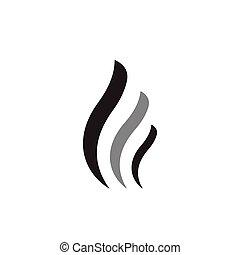 vague, vecteur, logo, résumé