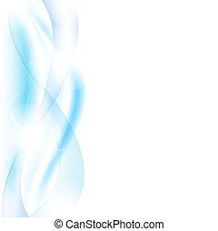 vagues bleu, barbouillage