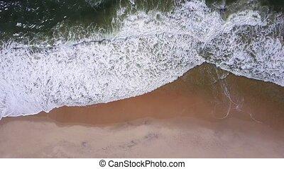 vagues, plage, océan, briser