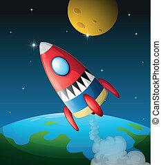 vaisseau spatial, ciel