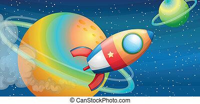 vaisseau spatial, espace extérieur