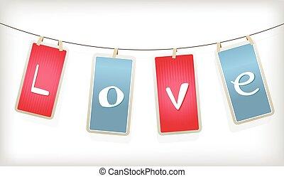 valentin, labels., pendre