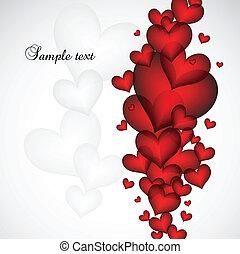 valentine, vecteur, card., jour