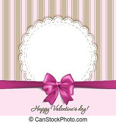 valentines, carte, arc