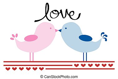 valentines, oiseaux