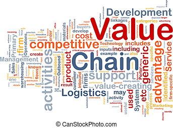 valeur, concept, chaîne, fond
