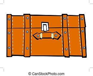 valise, sommet, classique, vue