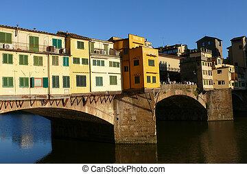 vecchio, ponte, italie, florence