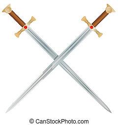 vecteur, épées