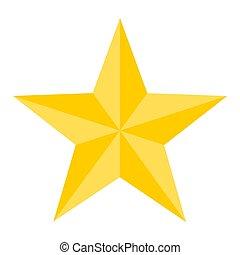 vecteur, étoile, illustration, or, briller