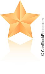 vecteur, étoile, or, icône