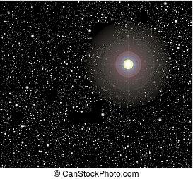 vecteur, étoiles, espace
