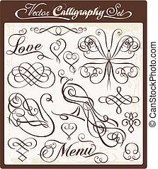 vecteur, 00, calligraphie