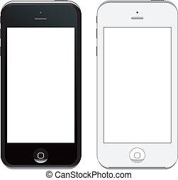 vecteur, 5, iphone