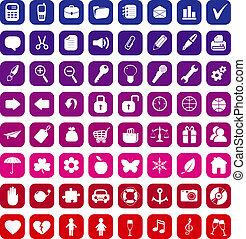 vecteur, 64, collection, icônes