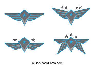 vecteur, ailes, illustration