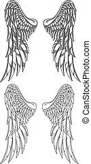 vecteur, ailes