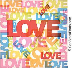 vecteur, amour, fond