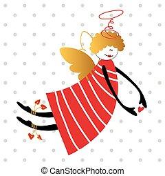 vecteur, ange, illustration